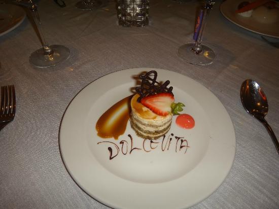 Barcelo Bavaro Palace Deluxe: Italian Restaurant Dessert