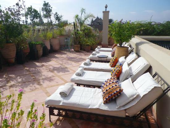 Riad Kniza: rooftop terrace