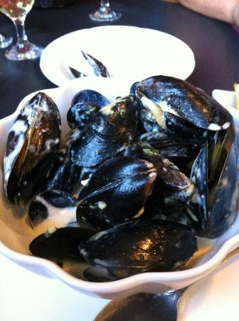 Olive Bistro and Lounge: Mussels in a Dijon garlic cream sauce
