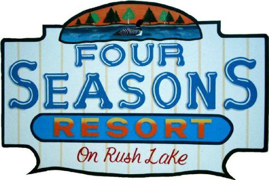 Four Seasons Resort on Rush Lake: sign