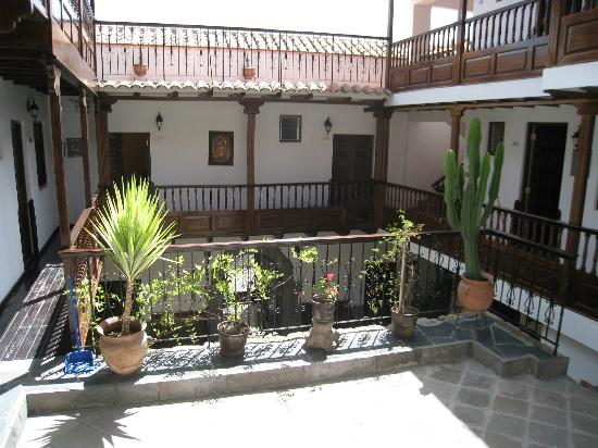 Andenes al Cielo: View of courtyard from second level