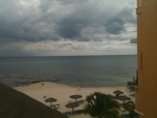 The Royal Haciendas All Suites Resort & Spa: view from top floor near palapa restaurant