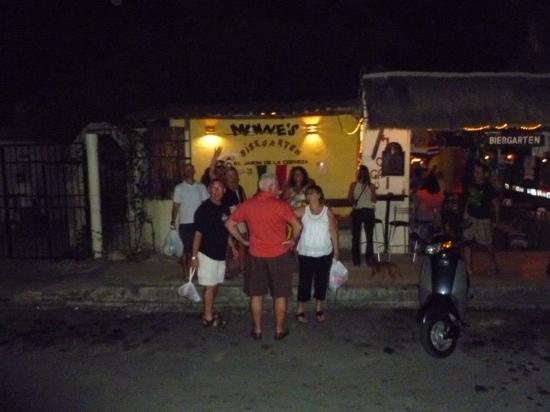 Manne's Biergarten: our group after having prime rib dinner at Manne's!
