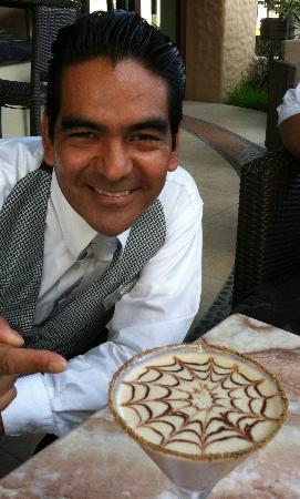 Tesoro Los Cabos: Lobby Bartender Juan Ortega Robles w/Chocolate Martini