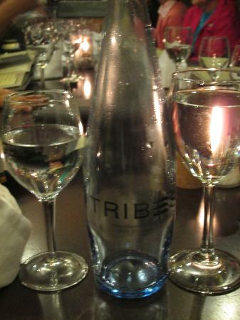 Tribes African Grill & Steakhouse: Bottled water, fancy!