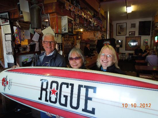 Rogue Ales Bayfront Public House: Just having some fun!