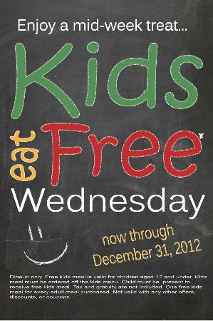 Dolce Wood Fired Italian Grille: New Kids Menu - with Lots of Healthy Choices!