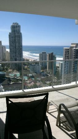 Artique Surfers Paradise: view north from balcony