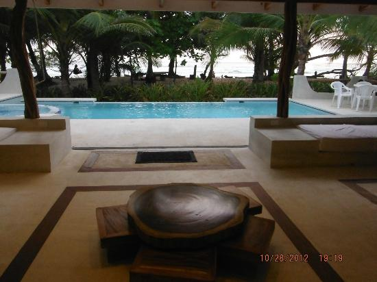 Hotel Tropico Latino: from the front door looking out at the pool/beach