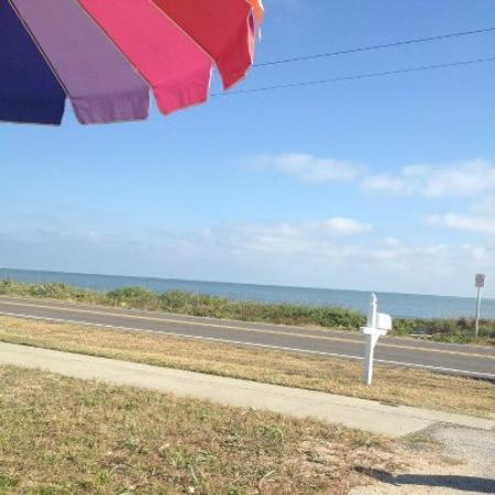 Flagler Beach, FL: The VIEW from the patio (that's the ATLANTIC OCEAN!