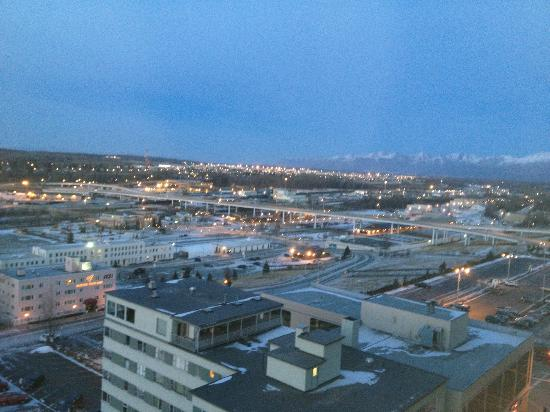 Hilton Anchorage: View from Executive Lounge Balcony