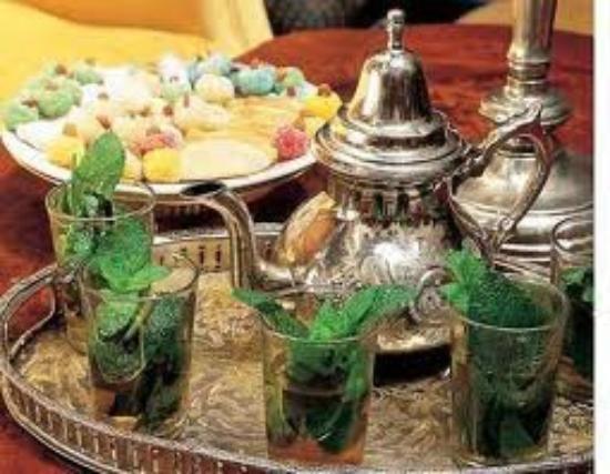 Riad Kalinka Lotus: thé à la menthe
