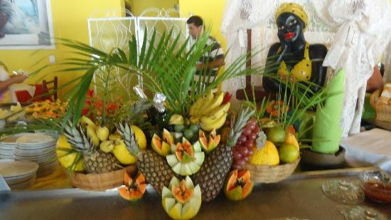 Bosque do Porto Praia Hotel: Decoração da mesa no café da manhã