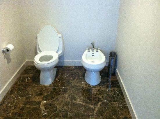 Hilton Fort Lauderdale Beach Resort: Penthouse master bath toilet & bidet; clean as a whistle! :)