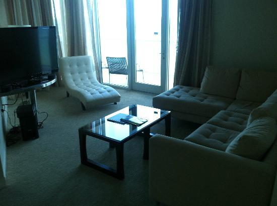 Hilton Fort Lauderdale Beach Resort: Penthouse with large HDTV, lounger, sectional, oceanfront view.