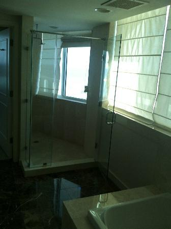 Hilton Fort Lauderdale Beach Resort: Penthouse shower with oceanview