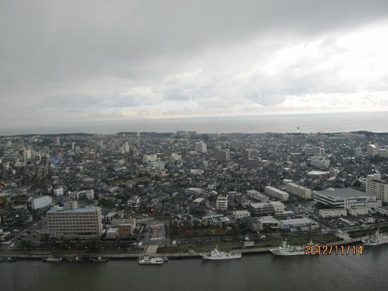 Hotel Nikko Niigata: 29階からの眺め