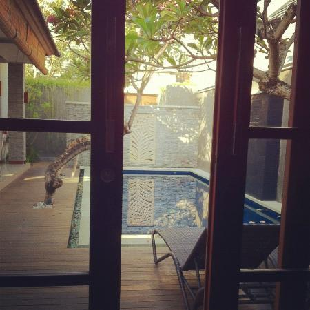 The Wolas Villas & Spa : View from the room overlooking private pool