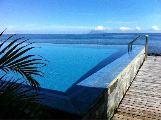 Minahasa Lagoon Dive Tours Club View From Bar Across Infinity Pool
