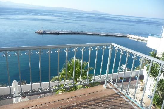 Palazzo Greco: View from balcony towards port