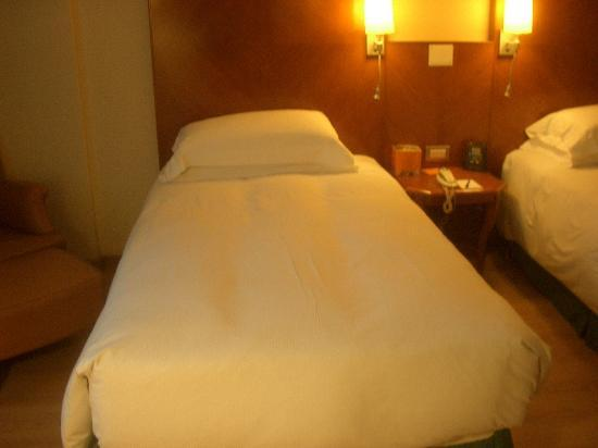 Hilton Rome Airport Hotel: The bed.