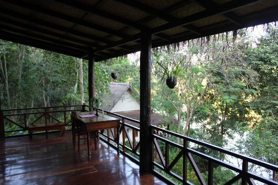 Lao Spirit Resort: Our terrace