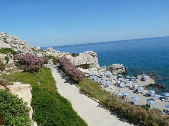 Kalithea Mare Palace: Widok na plażę hotelową