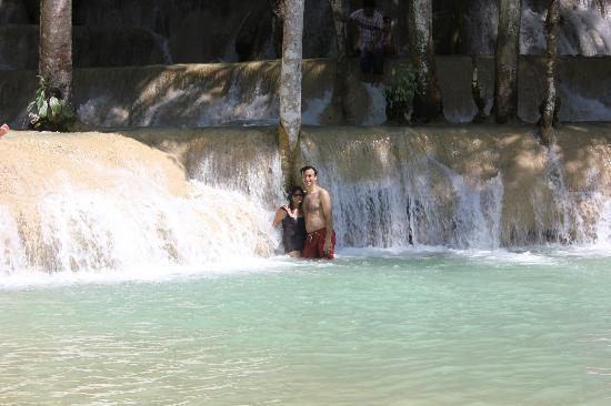 Lao Spirit Resort: After the trek, you chill out at the waterfalls
