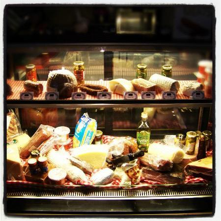 Como Caffe: Our vast array of deli meats and cheese