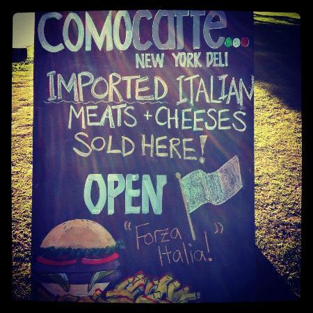 Como Caffe: Our Deli meats and cheeses