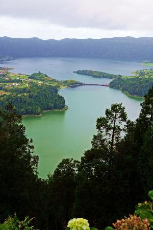 Sao Miguel, Portugal: Caldeira (Crater) Blue & Green Lakes