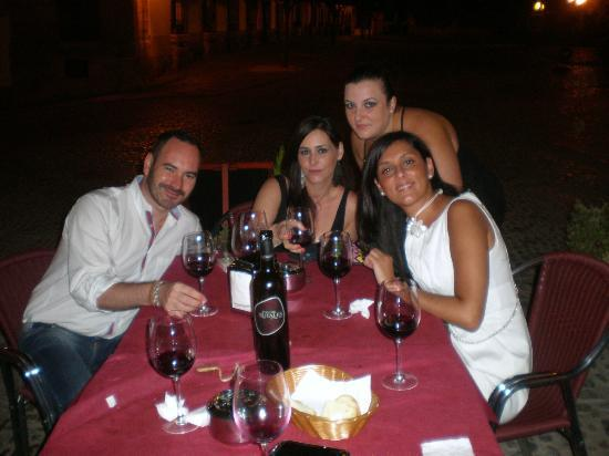 Cena terraza Meson El Sacristan