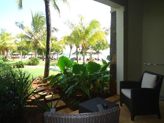 InterContinental Mauritius Resort Balaclava Fort: The view from our room / ground floor balcony