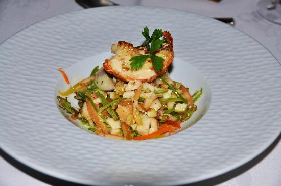 Le Duc de Praslin: lobster salat at Cafe des Arts