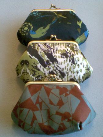 Manchester Craft and Design Centre: Silk limited edition Bleuet silk purses.