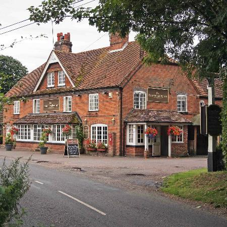 The Bourne Valley Inn seen from the road.