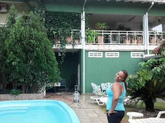 Green House Hostel: na piscina do hostel