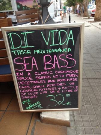 Di Vi Da: fresh fish fabulous value money
