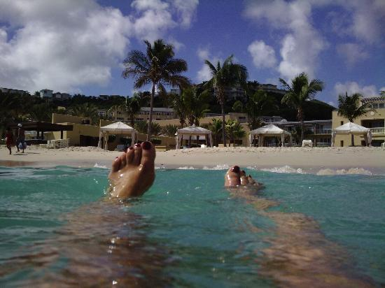 The Westin Dawn Beach Resort & Spa, St. Maarten: looking back at the hotel from the glorious surf