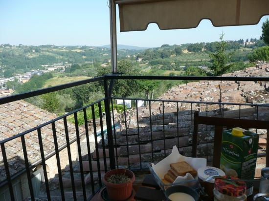 IL CALDUCCIO: view from balcony, here the guests get the breakfast