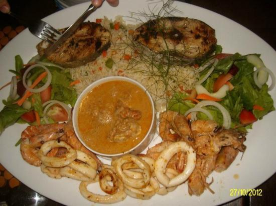 Aguia Negra Resort: Seafood Platter - a must have.