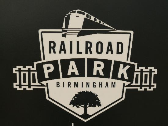 Birmingham's Railroad Park: Park entrance sign