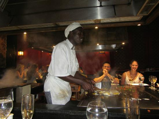 Iberostar Rose Hall Beach Hotel: Japanese restaurant - chef (& entertainer)