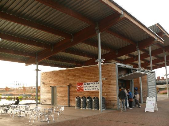 Birmingham's Railroad Park : Interesting concession stands at the park