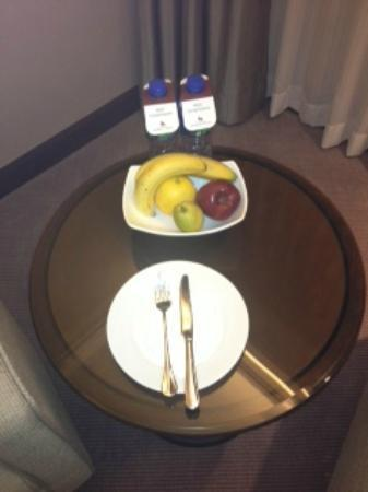 Prince (Marco Polo Hotels): complimentary water and fruit tea and coffee replenished daily