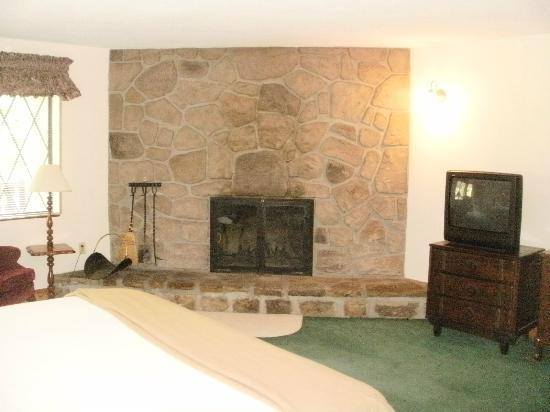 Brookside Resort: Clingman & LeConte Building Woodburning Fireplace