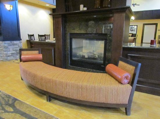 Hampton Inn & Suites Casper : Fireplace in Lobby