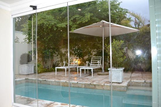 The Last Word Franschhoek: Our private pool area