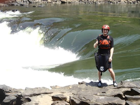 Kayak The Zambezi Day Trips: feeling good!