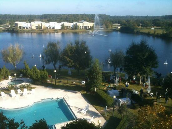 St Augustine Hotel & Suites : view from room over pool area.
